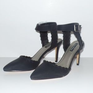 Michael Antonio Black Heels Ankle Strap 9